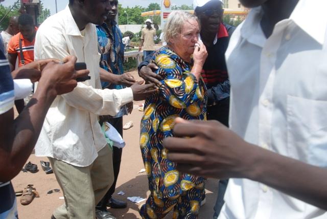 Marche contre le sénat : La mère de l'artiste burkinabè Smockey blessée
