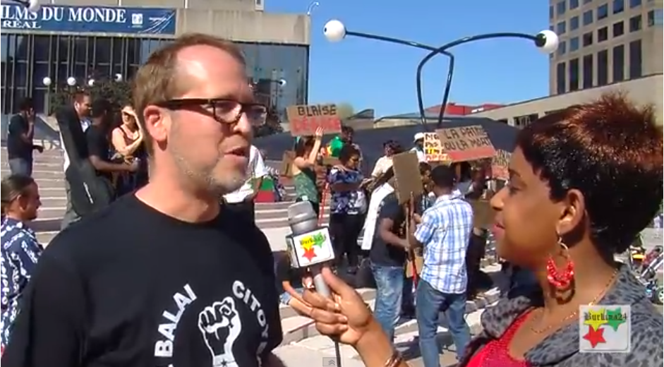 Manifestation contre le Sénat du Burkina à Montréal