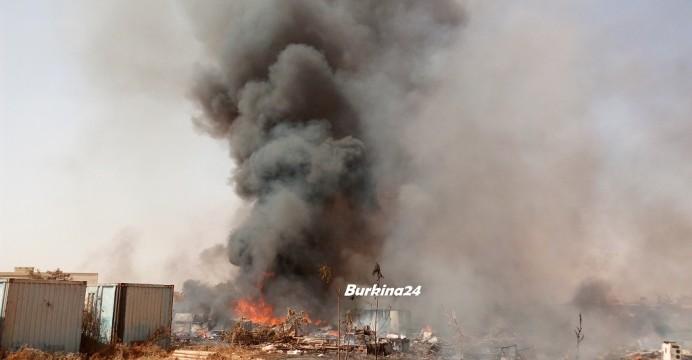 Incendie de pneus à Ouagadougou